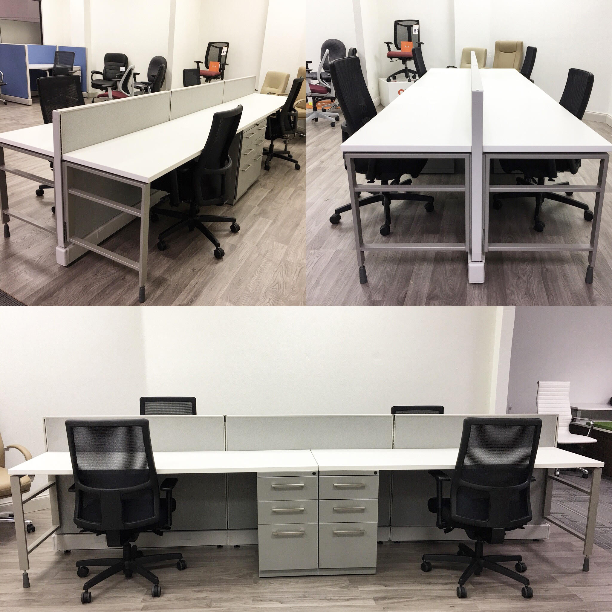 Used Benching System Vision Office Interiors